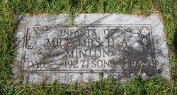 Infant Daughter Minton