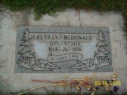 Ruth V Mcdonald