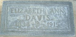 Elizabeth Ann Betty/Lizzie <i>Chrisman</i> Davis