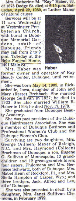 Catherine <i>Breitbach</i> Haber