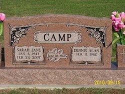Sarah Jane <i>Ward</i> Camp
