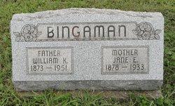 William K Bingaman