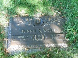 Minnie Belle Mary <i>Linn</i> Rolfe