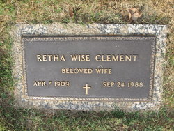 Retha <i>Wise</i> Clement