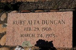 Ruby Alta <i>Moore</i> Duncan
