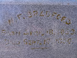 William Fredrick Fred Bradford
