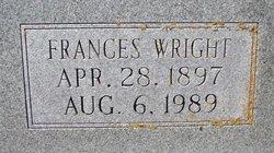 Frances <i>Wright</i> Rector