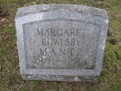 Margaret <i>Bowlsby</i> Mantz