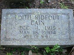 Edith <i>Rideout</i> Cain