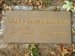 Mary E <i>Cloud</i> Brannon