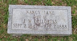 Nancy Jane <i>Curry</i> Childress