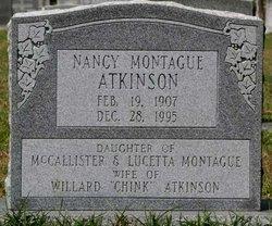 Nancy Cudworth <i>Montague</i> Atkinson