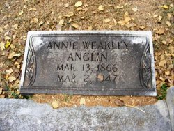 Annie <i>Weakley</i> Anglin