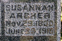 Susannah <i>Harrison</i> Archer