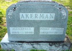 Minnie <i>Edwards</i> Akerman