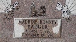 Maurine <i>Romney</i> Badger