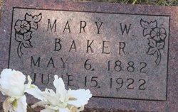 Mary Martha <i>Williams</i> Baker