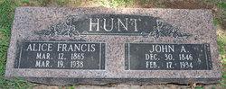Alice Francis <i>Box</i> Hunt