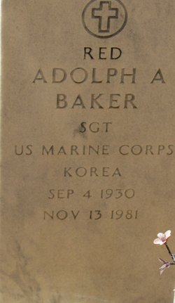 Adolph Albert Red Baker