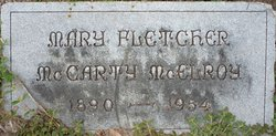 Mary Fletcher <i>McCarty</i> McElroy
