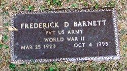 Frederick D Barnett