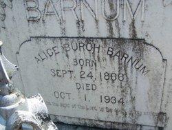 Alice <i>Burch</i> Barnum