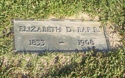 Elizabeth D Barr