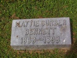 Mattie <i>Surber</i> Bennett