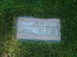 Anna Margaretta <i>Johanson</i> Martinson