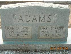 Pansy <i>Garrett</i> Adams