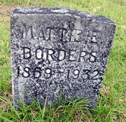 Martha E Mattie Borders