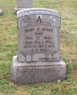 Mary A Acker