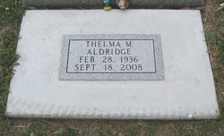 Thelma M. <i>Scott</i> Aldridge