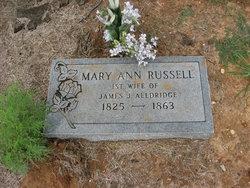 Mary Ann <i>Russell</i> Alldridge