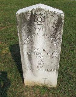Pvt William Alford