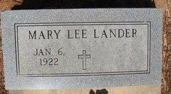 Mary Lee <i>Scruggs</i> Lander