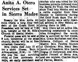 Maria Ana Francisca Anita <i>Armijo</i> Otero