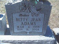 Betty Jean <i>Watson</i> Adams