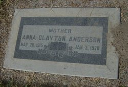 Anna Louise <i>Clayton</i> Anderson