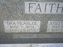 Ora Pearlee <i>Huff</i> Faith