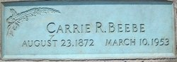 Caroline Rachel Carrie <i>Parks</i> Beebe