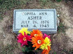 Sophia Ann <i>Morgan</i> Asher
