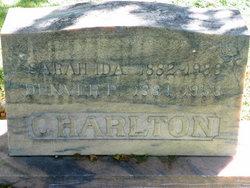Sarah Ida <i>Dickson</i> Charlton
