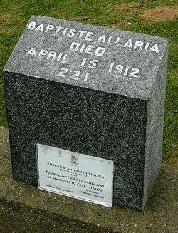 Battista Antonia <i>Baptiste</i> Allaria