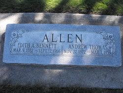 Edith A <i>Bennett</i> Allen