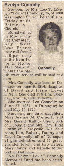 Evelyn Helen <i>O` Neil</i> Connolly