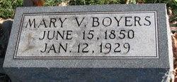 Mary V <i>Clatterbuck</i> Boyers