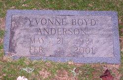 Yvonne <i>Boyd</i> Anderson
