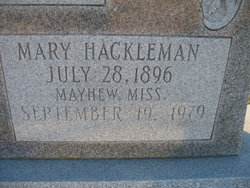 Mary <i>Hackleman</i> Cole