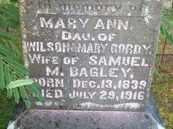 Mary Ann <i>Gordy</i> Bagley